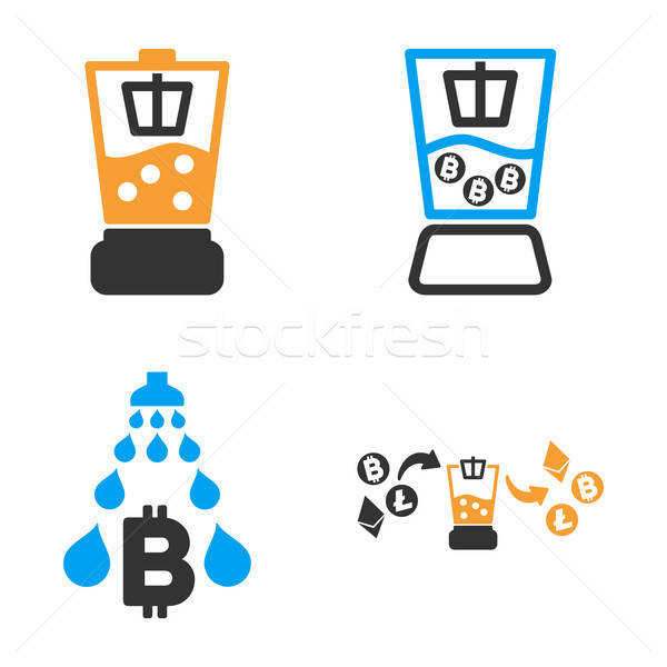 Bitcoin Laundering Vector Icon Set Stock photo © ahasoft