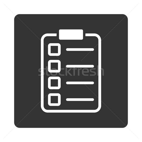 Badanie ikona stylu biały szary kolory Zdjęcia stock © ahasoft