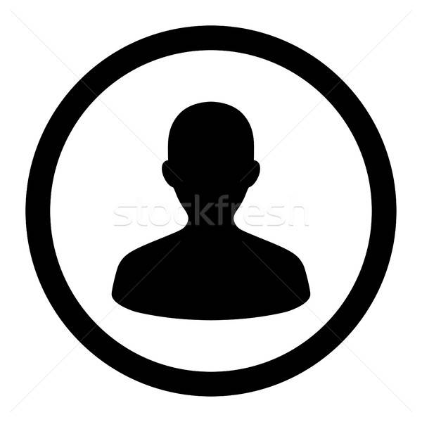 User flat black color rounded vector icon Stock photo © ahasoft