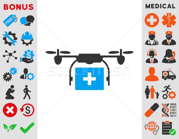 Orvosi szállítmány ikon stílus szimbólum kék Stock fotó © ahasoft