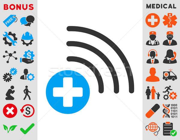 Orvosi forrás ikon stílus szimbólum kék Stock fotó © ahasoft