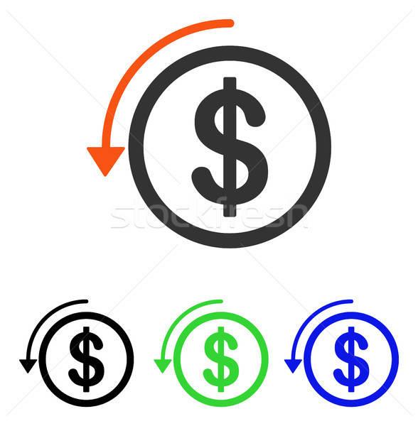 Viszzafizetés vektor ikon illusztráció stílus ikonikus Stock fotó © ahasoft