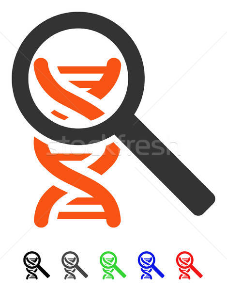 Explore DNA Flat Icon Stock photo © ahasoft