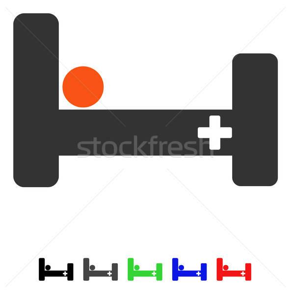 Kórházi ágy ikon vektor színes szín fekete Stock fotó © ahasoft