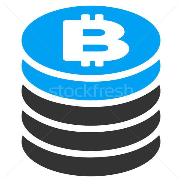 Bitcoin sikke ikon vektör uygulama Stok fotoğraf © ahasoft