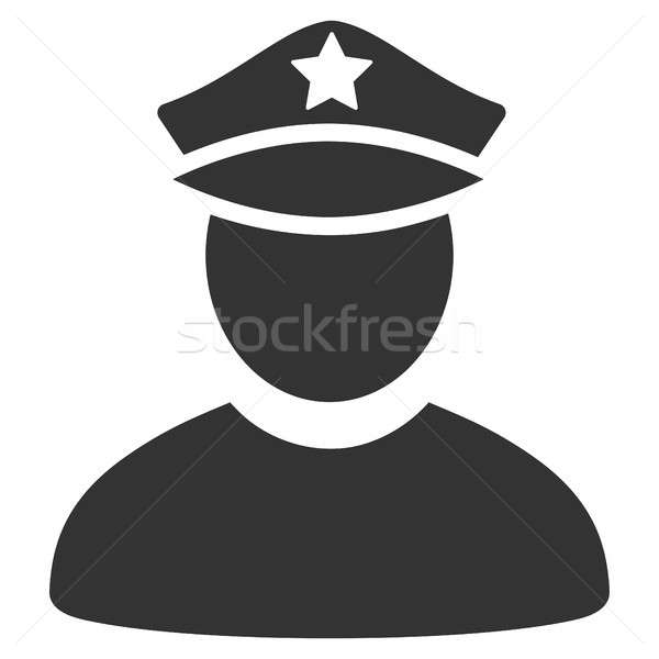 Policeman Flat Icon Stock photo © ahasoft