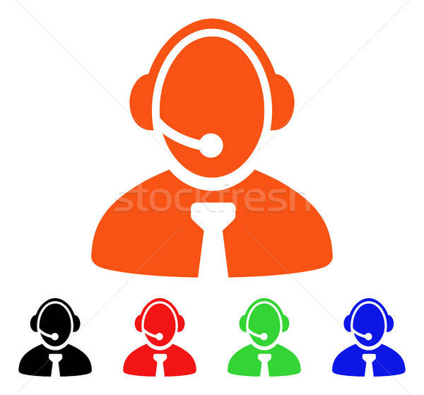Call Center Manager Vector Icon Stock photo © ahasoft