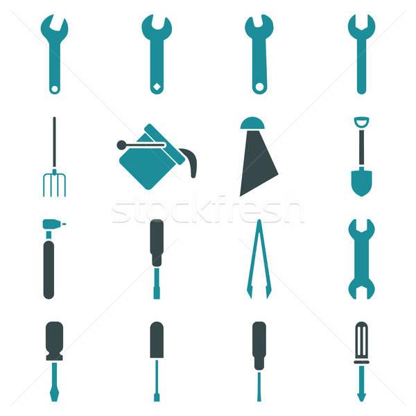 Stockfoto: Tools · vector · stijl · symbolen · zachte