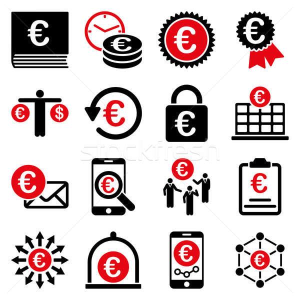 Stockfoto: Euro · bancaire · business · dienst · tools · iconen