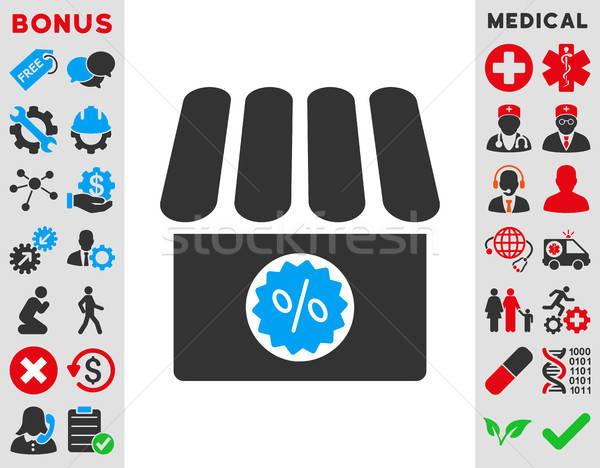 Drogist verkoop icon vector stijl symbool Stockfoto © ahasoft