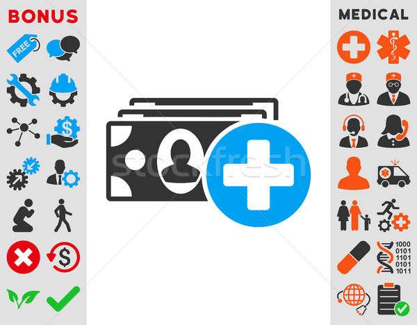 Orvosi ikon stílus szimbólum kék szürke Stock fotó © ahasoft