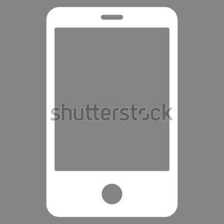 Okostelefonok ikon szürke szimbólum piktogram izolált Stock fotó © ahasoft