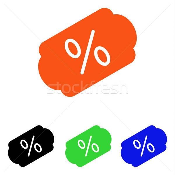 Descuento etiqueta vector icono pictograma ilustración Foto stock © ahasoft