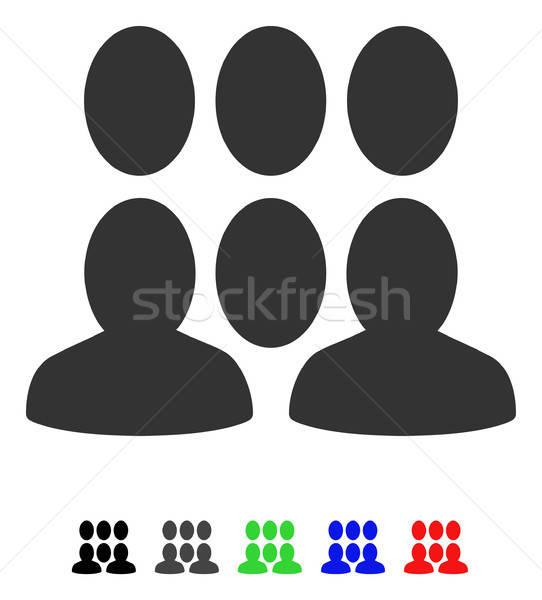 群衆 アイコン ベクトル 色 黒 ストックフォト © ahasoft