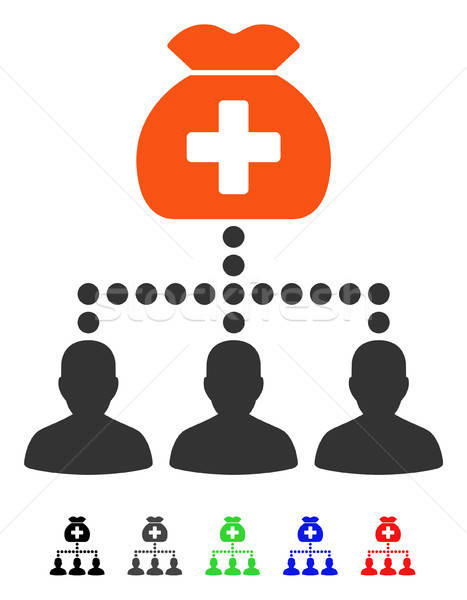 Medical Fund Clients Flat Icon Stock photo © ahasoft