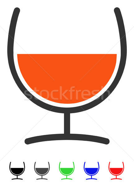 Remedy Glass Flat Icon Stock photo © ahasoft