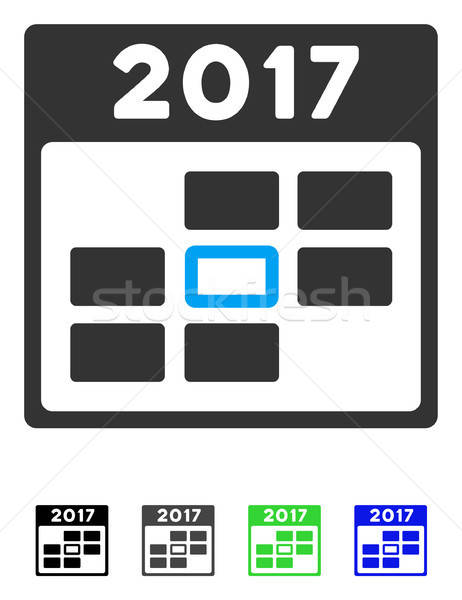 2017 Year Selected Calendar Day Flat Icon Stock photo © ahasoft