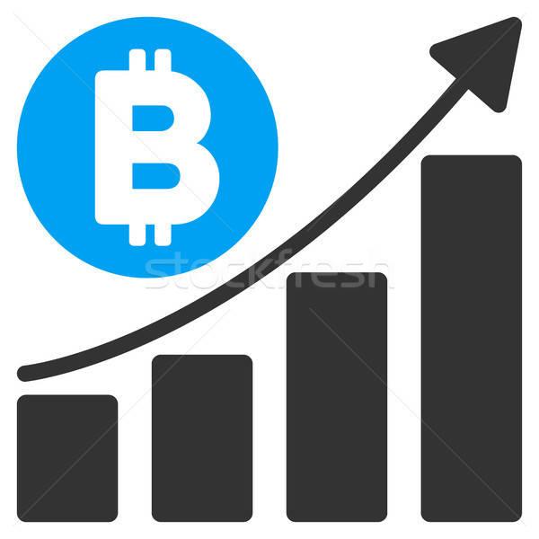 Bitcoin гистограмма тенденция икона вектора применение Сток-фото © ahasoft