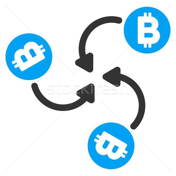 Bitcoin keverő örvény ikon alkalmazás web design Stock fotó © ahasoft