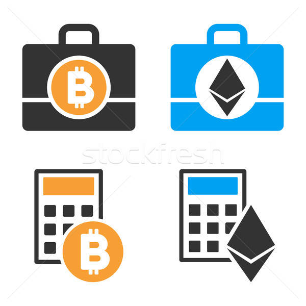 Cryptocurrency Accounting Vector Icon Set Stock photo © ahasoft