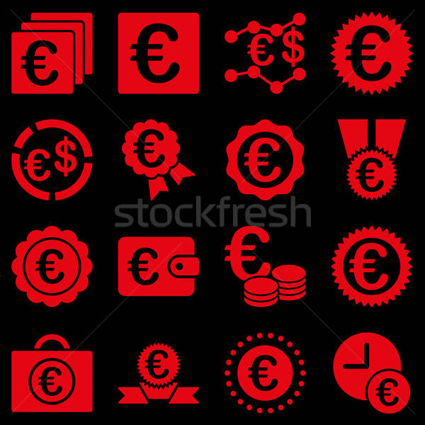 Сток-фото: евро · банковской · бизнеса · службе · инструменты · иконки