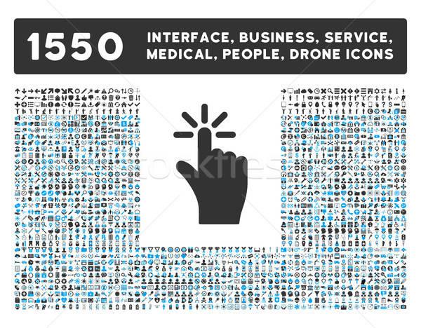 Kattintás ikon több interfész üzlet szerszámok Stock fotó © ahasoft