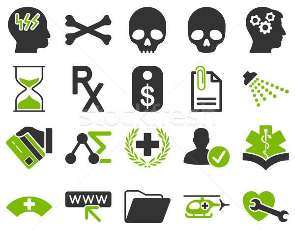 Zdjęcia stock: Medycznych · ikona · stylu · eco