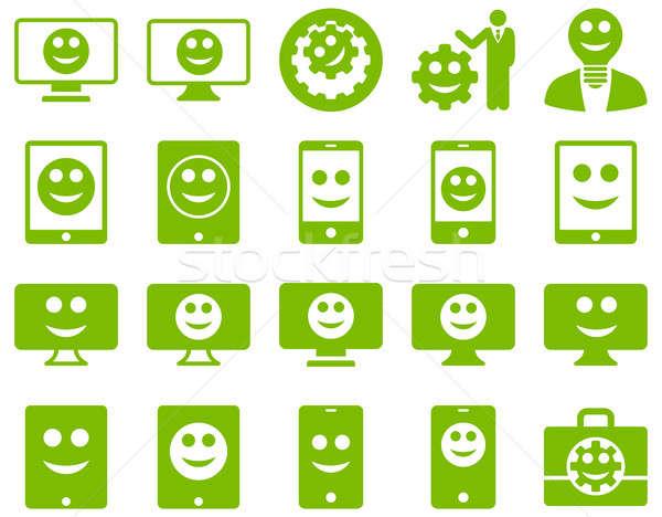 Tools opties glimlacht iconen ingesteld Stockfoto © ahasoft