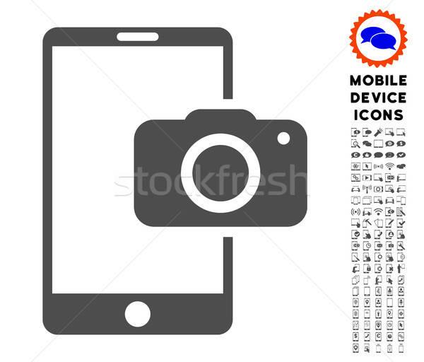 Hareketli kamera ikon resim yazı paketlemek Stok fotoğraf © ahasoft