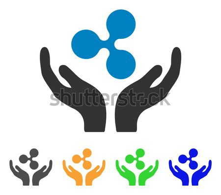Sperm Care Hands Flat Vector Icon Stock photo © ahasoft