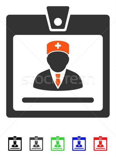Médico placa icono vector color Foto stock © ahasoft