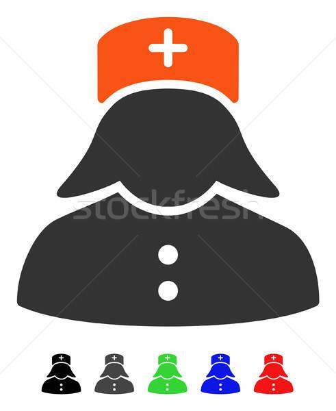 Pielęgniarki ikona wektora kolorowy kolor czarny Zdjęcia stock © ahasoft