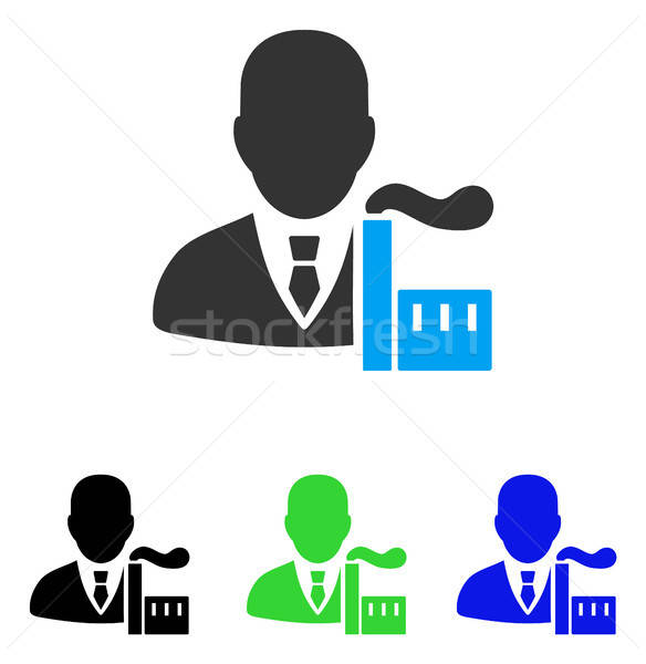 Capitalist Oligarch Flat Icon Stock photo © ahasoft
