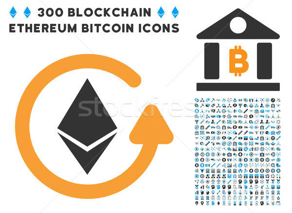 Ethereum Refund Flat Icon with Clip Art Stock photo © ahasoft