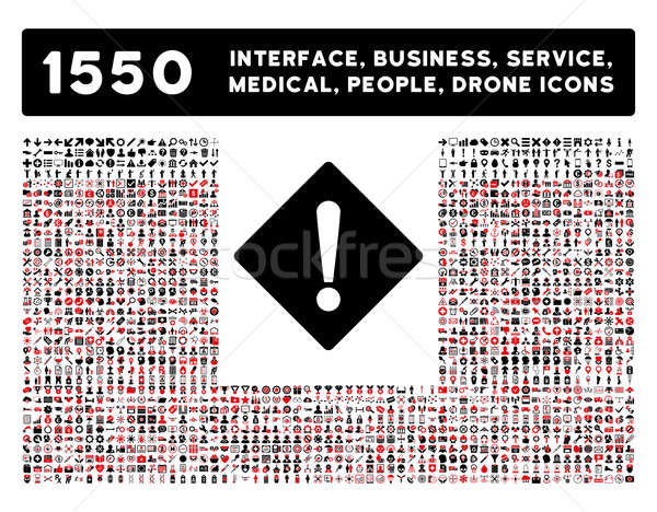 Error Icon and More Interface, Business, Tools, People, Medical, Awards Flat Glyph Icons Stock photo © ahasoft