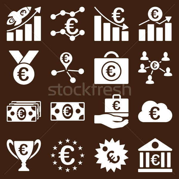 Euro bankowego działalności usługi narzędzia ikona Zdjęcia stock © ahasoft