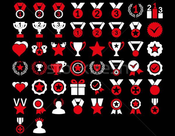 Konkurencja ikona czerwony biały kolory Zdjęcia stock © ahasoft