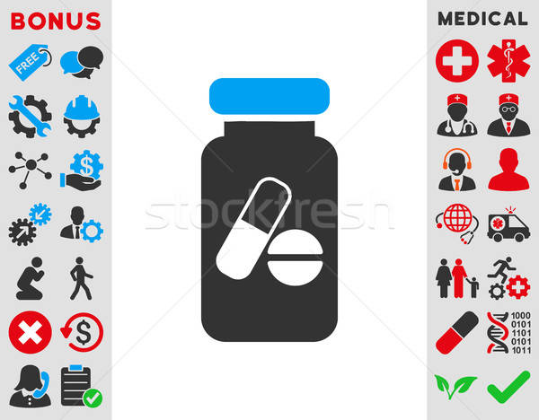 Drugs icon vector stijl symbool Stockfoto © ahasoft