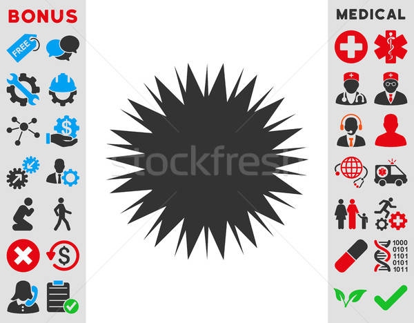 Microbe Spore Icon Stock photo © ahasoft