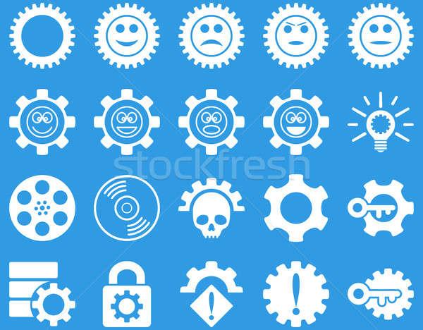 Herramientas sonrisa artes iconos establecer estilo Foto stock © ahasoft
