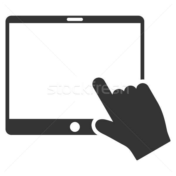 Hand Pointer Tablet Flat Raster Icon Stock photo © ahasoft