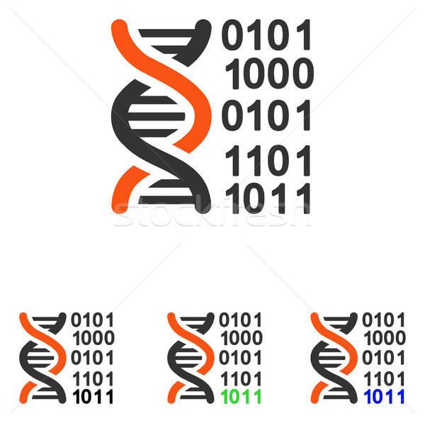 Genoom code vector icon pictogram illustratie Stockfoto © ahasoft