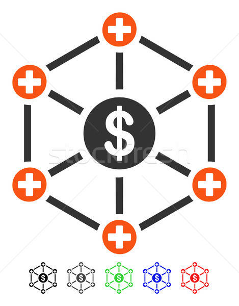 Financial Medical Network Flat Icon Stock photo © ahasoft