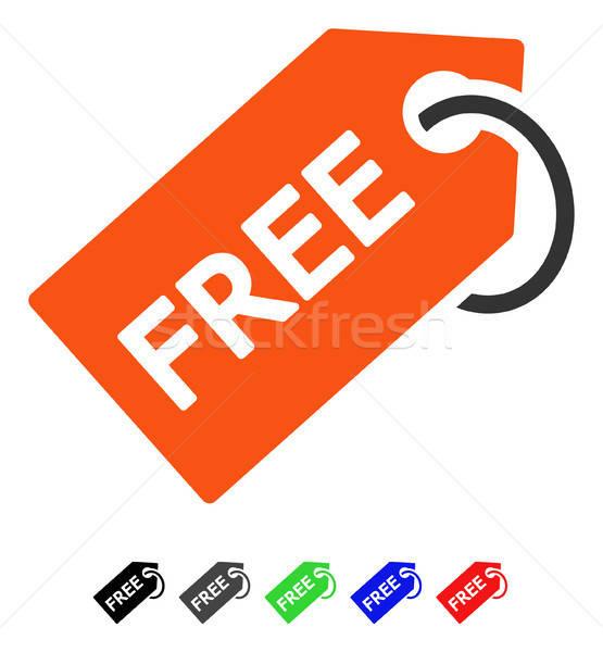 Libre tag icône couleur noir Photo stock © ahasoft