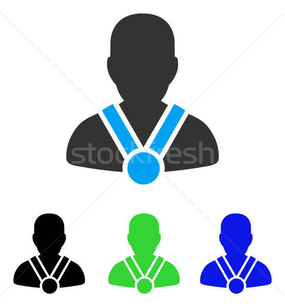 Champion Flat Icon Stock photo © ahasoft