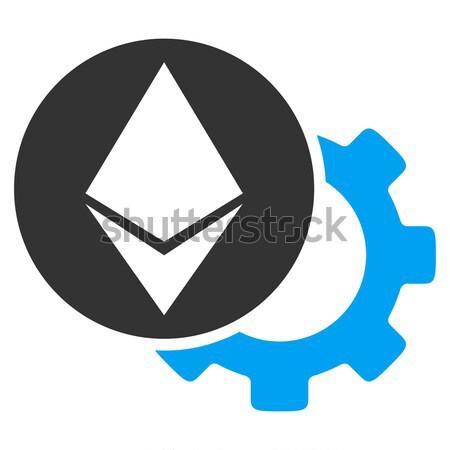 Cog rueda icono vector pictograma aplicación Foto stock © ahasoft