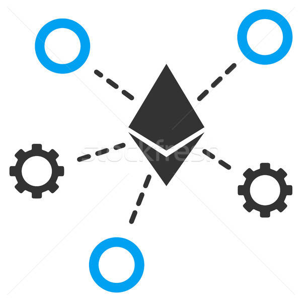 Ethereum Network Nodes Flat Icon Stock photo © ahasoft