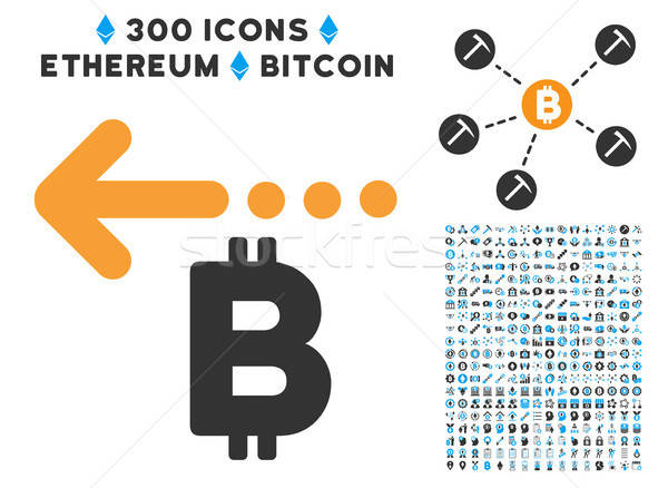 Bitcoin Refund Back Flat Icon with Stock photo © ahasoft