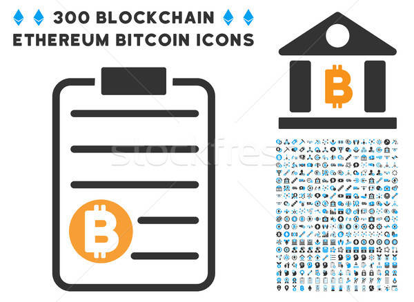 Bitcoin Price List Flat Icon with Collection Stock photo © ahasoft