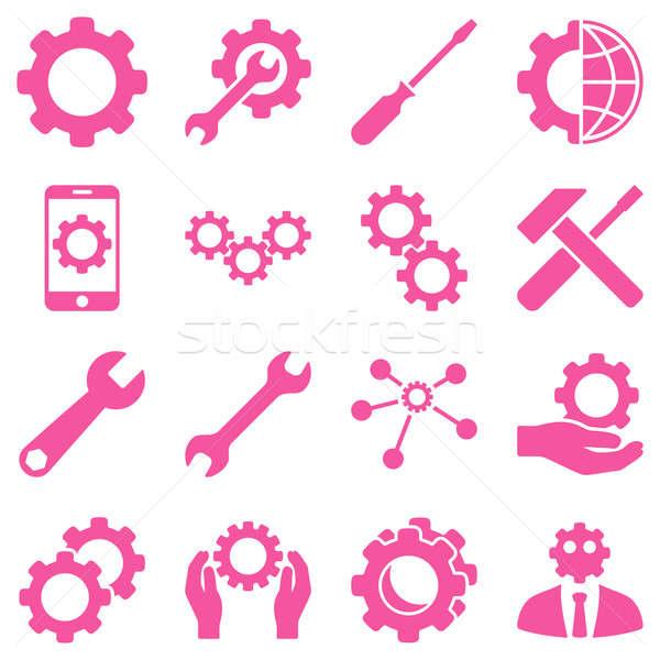 Opzioni servizio strumenti stile simboli Foto d'archivio © ahasoft